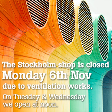 Stockholm shop closed Monday 6th November