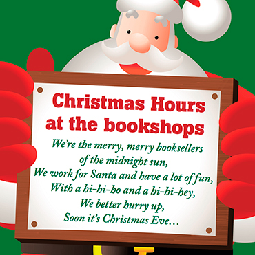 Christmas Hours at the bookshops