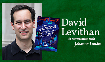 Online author event Wed 12 May – David Levithan
