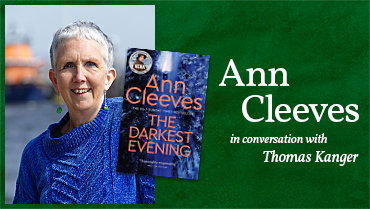 Meet Ann Cleeves – online author event Monday 17th May
