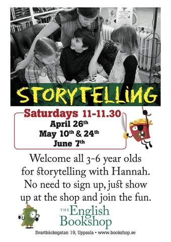 Storytelling for Children at The English Bookshop in Uppsala, Stockholm